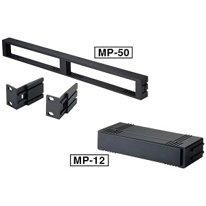 Dual receiver rack mount plus 1/2 rack filler plate