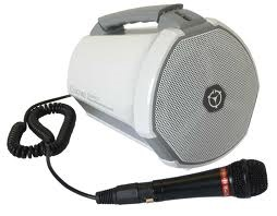 The basic Coach portable PA includes plug-in mic on curl cord