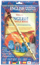 English Penny Whistle (key of D) with book and CD. Gift Boxed.